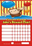 Personalised Curious George Reward Chart (adding photo option available)